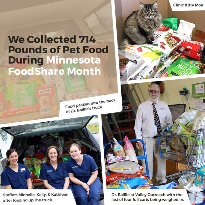 We Collected 714 Pounds of Pet Food During Minnesota FoodShare Month